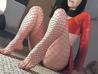 Feet Fetish Fishnet Legs Fishnet Insertion Aunt Hidden Shower