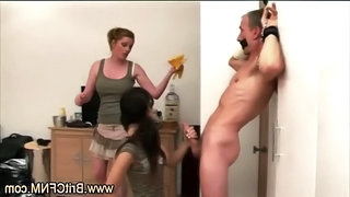 Cfnm Amateur Guy Gagged And Chained By Two Babes