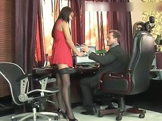 Secretary Office Stockings Babe Ass Gaping Office Babe