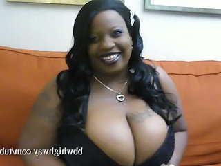 Fat Ebony Bbw With Monster Tits Fucks Two Black Cocks