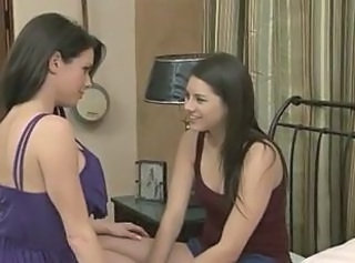 Hot lesbian scene with two hot babes
