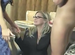 Mom Glasses Threesome Mom Son Son