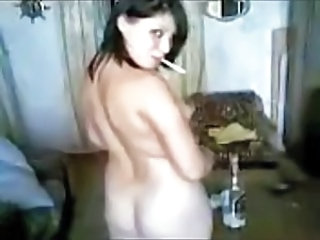 Smoking Drunk Russian Girlfriend Amateur Russian Amateur