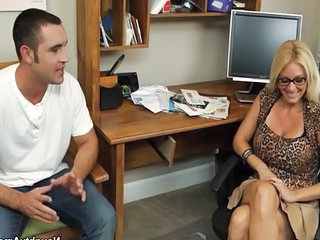 Charlee Chase has hot sex with young cock