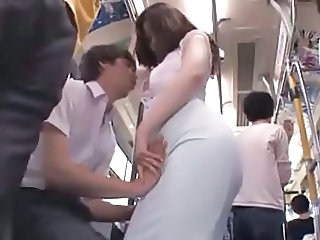 Bus Public Handjob Asian Babe Blowjob Babe Bus + Asian