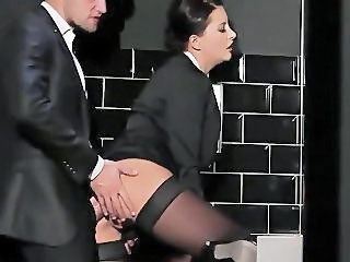Toilet Secretary Clothed Clothed Fuck Milf Stockings Stockings