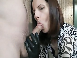 Latex Blowjob Clothed Blowjob Milf Leather Milf Blowjob