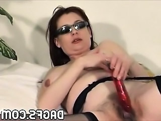 Dildo Cute Hairy Beautiful Mom