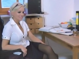 German Blonde European Boss German Milf Milf Office