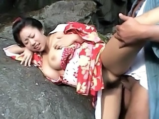 Chichihime and her juggs in bizarre cosplay outdoor fucking