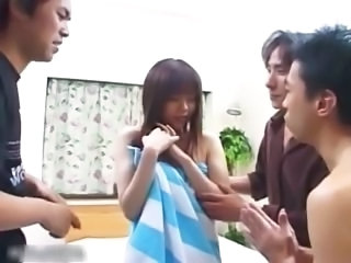Shy Japanese teen girl gets her hairy