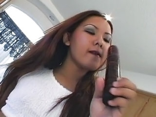 Kitchen dildo play is how she starts the day
