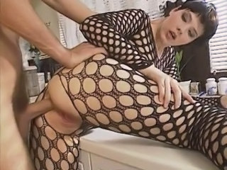 Fishnet Babe Kitchen Babe Anal Fishnet