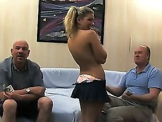 Cash Cute European Flashing Old And Young Son