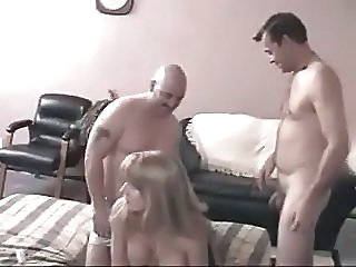Amateur Bi Party 4 Men And 1 Lucky Woman