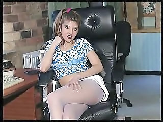 Amazing British European British Teen Office Teen
