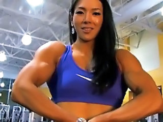 Video from: pornhub | Asian Female Bodybuilder Hulking...