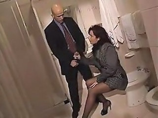Toilet Handjob Pornstar Milf Stockings Stockings