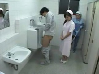 Toilet Nurse Threesome Jerk Nurse Asian Toilet Asian