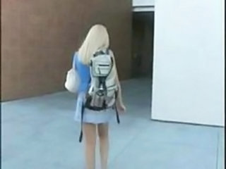 """Blonde college student prepares for long exciting night with janitor"""" target=""""_blank"""