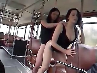 Bus Lesbian French Bus + Public Bus + Teen French Teen