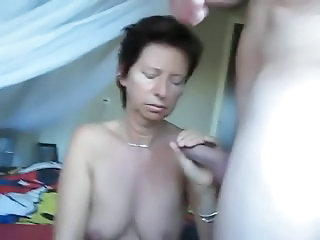 Wife drag inflate dick