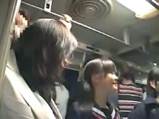 Family Asian Daughter Bus + Asian Bus + Public Daughter