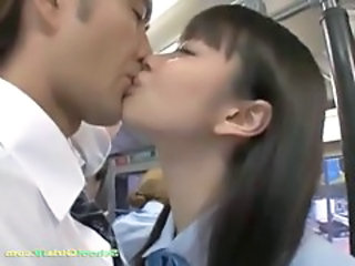 Bus Kissing Asian Asian Teen Bus + Asian Bus + Public