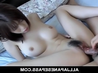 Horny MiLF Yui Sarina gobbles a hard dick inside a bathing suit before she is...