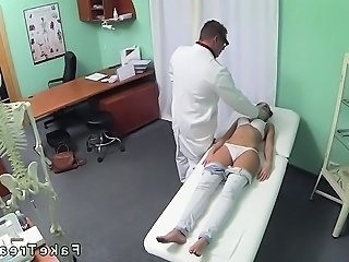 Good looking brunette fucked by doctor in fake hospital