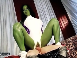 Thor loves fucking a horny female hulk slut