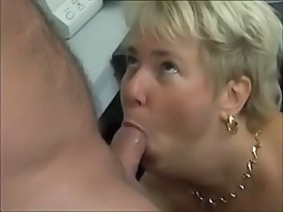 Chunky German cougar ass-fucked in the office