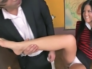 Teacher fucks schoolgirl