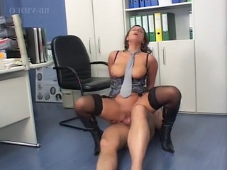 German Woman Gets Fucked In The Office In Boots