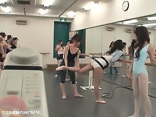 Dark haired Asian bitch dancing ballet part5