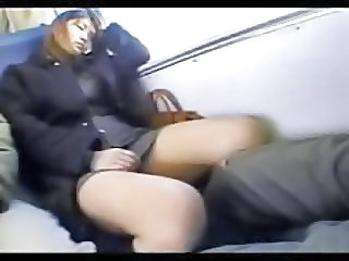 Asian Gets Fingered On Bus