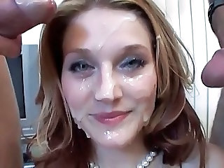 Pretty Face Covered in Cum