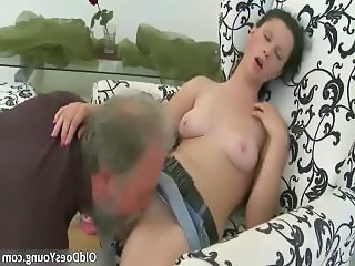Sexy brunette slut gets ready for some part4