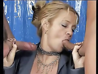 2 guys to satisfy this German Squirting Mature