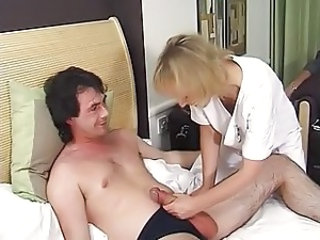 Nurse Mature Uniform Handjob Mature