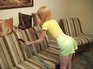 Russian whore Nastya and her vacuum cleaner)))