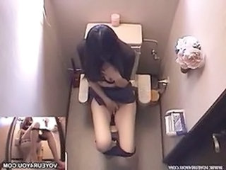 Asian HiddenCam Masturbating Hidden Toilet Toilet Asian