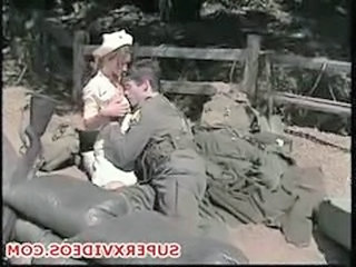 Army Nurse Outdoor Uniform Vintage Outdoor Ejaculation