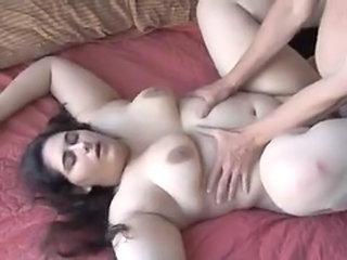 Brunette BBW arab amateur getting fucked