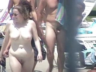 Nudist Voyeur Pool Outdoor Public