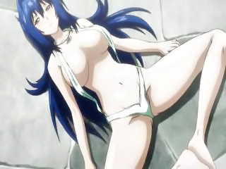 Busty brunette anime Maken-ki...