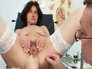 Video from: tnaflix | Pervy woman doctor examines hairy pussy grandma who is sitting on gyno chair...