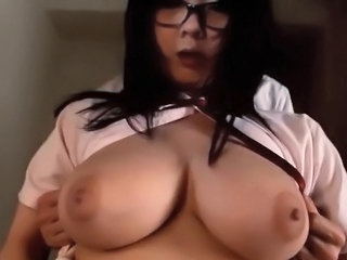 Chubby Glasses Student Asian Big Tits Ass Big Tits Big Tits