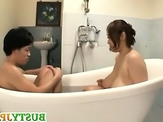 BBW Bathroom Mom Asian Big Tits Bathroom Bathroom Mom