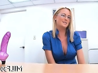 Casting Toy Dildo Dildo Milf Milf Ass Milf Office